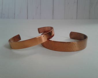 Pair of Copper Cuff Bracelets