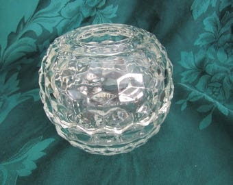 Fostoria American Tealight Candle Votive, Fairy LIght