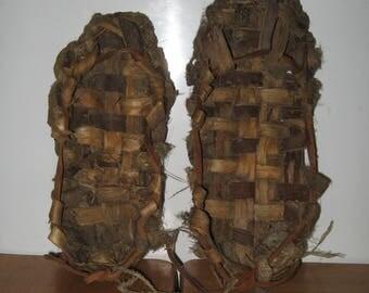 Primitive Original Bast Shoes Russia 1900