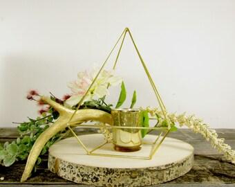 Gold Himmeli Pyramid  Bulk Order ~ Geometric Wedding Centerpiece ~ Geometric Pyramid ~ Terrarium Wedding Centerpiece ~ Terrarium Centerpiece