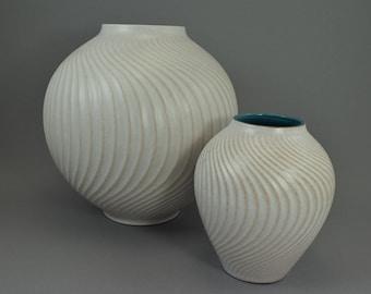 West German Pottery Set of 2 vases, Carstens, decor Libanon