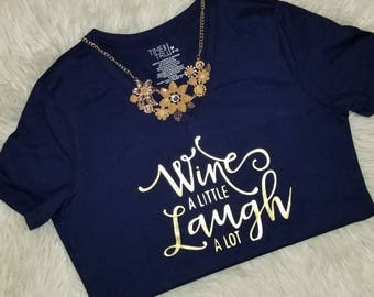 Wine A Little Shirt and Necklace