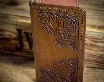 Leather Cowboy Long Wallet