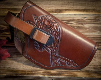 Leather Viking Gun Holster 4 1/2in.