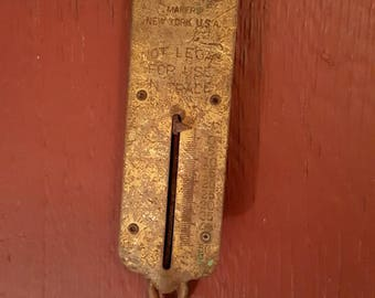 John Chatillon & Sons Scale/old luggage Scale/Eclectic Industrial Decor/Old Spring Scale
