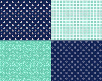 1 Panel A Little Sweetness by Tasha Noel for Riley Blake Designs- 6511 Navy