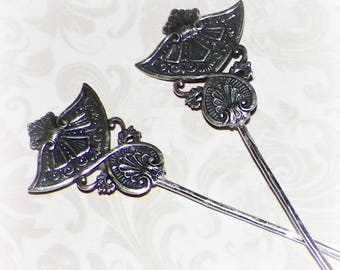 Celtic Hair Stick Fork Set Of 2 One Pair Of Matching Vintage Victorian Style  Bridal Pin Pick Comb Hair Barrette Stick Pin