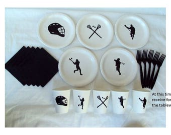 Lacrosse Party Tableware Set for 5 People