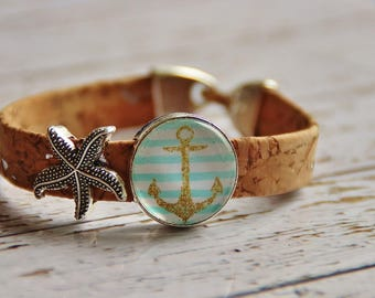 Cork bracelet and Anchor Cork bracelet