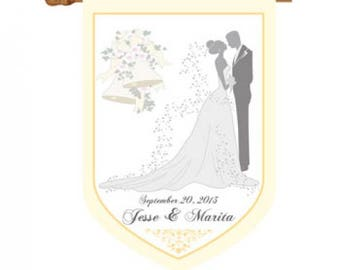 Wedding Personalized House Or Garden Flag Custom Bride And Groom House Or Garden  Flag