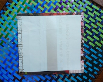 handmade notebook with re-used paper
