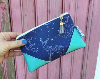 Constellation Mini Tassel Zipper Clutch