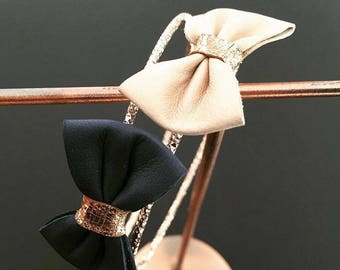 BILLY Navy Bangle order special smaller thin wrist and leather bow