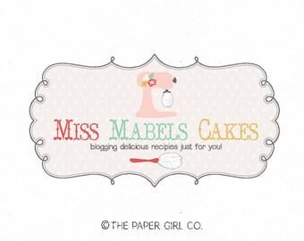 mixer logo design bakery logo design baking blog logo bakers logo whisk logo design cafe logo design premade log design cake logo design