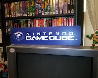 "Nintendo GameCube Display, Aluminum Sign, 6""x24"""