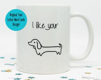 Coffee Lover Gift, Gift for Him, Valentines Day Gift, Funny Coffee Mug, Mug for Boyfriend, Gift for Husband, Wiener Dog Gift, Funny Mug