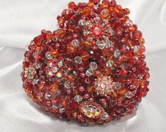 Red Crystal Heart Bouquet