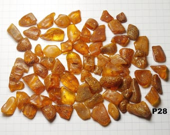 P28 / lot 20g amber beads natural honey color