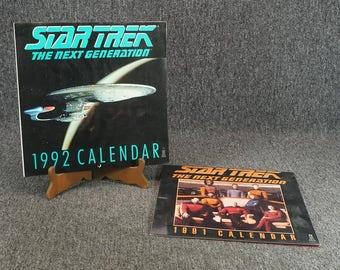 Star Trek TNG Calendars 1991 & 1992