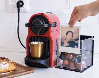 Your Personal Custom Photo Nespresso Capsule Storage Box Coffee Pod Holder Personalized Kitchen Décor Office Gift Co-Workers Corporate Gifts