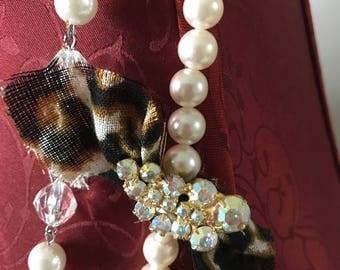 Shabby Chic Upcycled Necklace