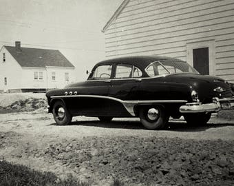 Old Buick in Black and White photo