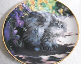 Beautiful collectible-Cats-Franklin Mint-Sitting pretty-Nancy Matthews-Vintage CAT/cats collector plate