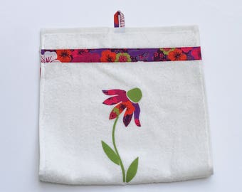 Cotton patch fabric with applied guest towel