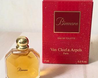 Perfume mini BIRMANE by Van CLEEF ARPELS vintage, original box, 7 ml