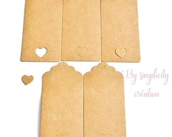 Set of 5 strong kraft for scrapbooking