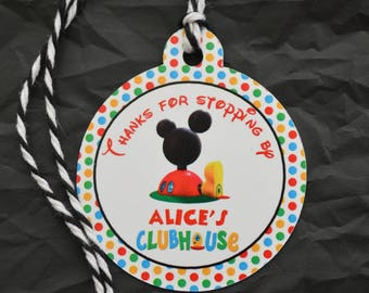 Mickey Mouse Clubhouse Goodie Bag Tags - Oh TWOdles Gift Tags - Treat Bag Tags - Birthday Favor Bag Tags - MeeskaMooska Mickey Mouse