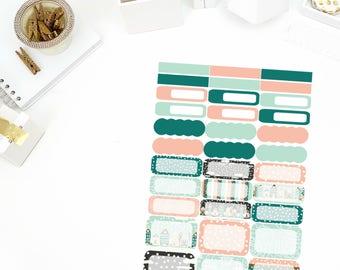 Winter Kisses Functional Stickers! Perfect for your Erin Condren Life Planner, calendar, Paper Plum, Filofax!