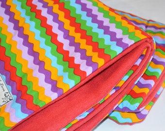 Baby Rainbow Blanket, Baby Fleece Blanket, Baby Blanket, Cot Bedding, Colourful Baby Blanket, Red Baby Blanket, Warm Baby Blanket
