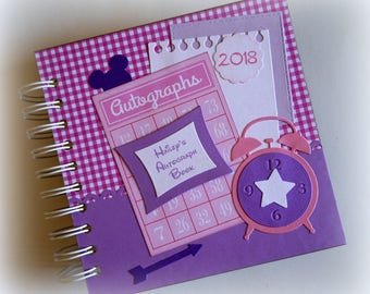 2018 OOAK PERSONALIZED  Princess inspired Disney Autograph Book Scrapbook Travel Journal Vacation Photo Book 1165