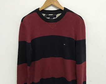 20% OFF Vintage Tommy Hilfiger Knitwear Sweater,Tommy Hilfiger Pullover Sweater,Tommy Red Sweater,Tommy Sailing Gear