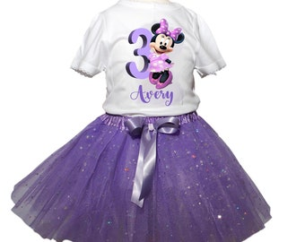 Minnie Mouse Tutu Birthday Tutu Outfit Girl Minnie Tutu outfit  baby tutu outfit Minnie girl Tutu outfits Girl Birthday tutu toddler tutu