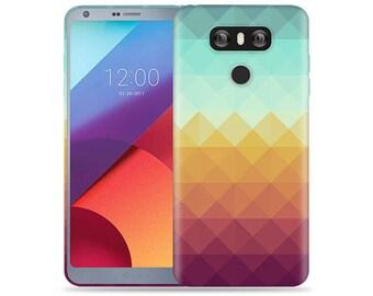 Lg G6 Case #Pixel Waves Design Hard Phone Case