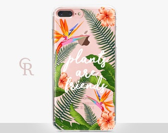 Floral Clear Phone Case For iPhone 8 iPhone 8 Plus iPhone X Phone 7 Plus iPhone 6 iPhone 6S  iPhone SE Samsung S8 iPhone 5 Transparent