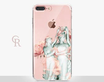 Statues Clear Phone Case - Clear Case - For iPhone 8, 8 Plus, X, iPhone 7 Plus, 7, SE, 5, 6S Plus, 6S,6 Plus, Samsung S8,S8 Plus,Transparent
