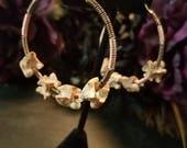 Snake vertabre earrings