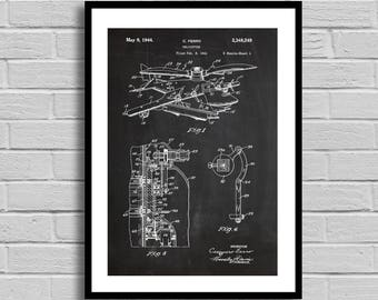 Helicopter Patent, Helicopter Patent Poster, Helicopter Blueprint, Helicopter Print, Vintage, Pilot Gift, Helicopter Decor, Aviation decor