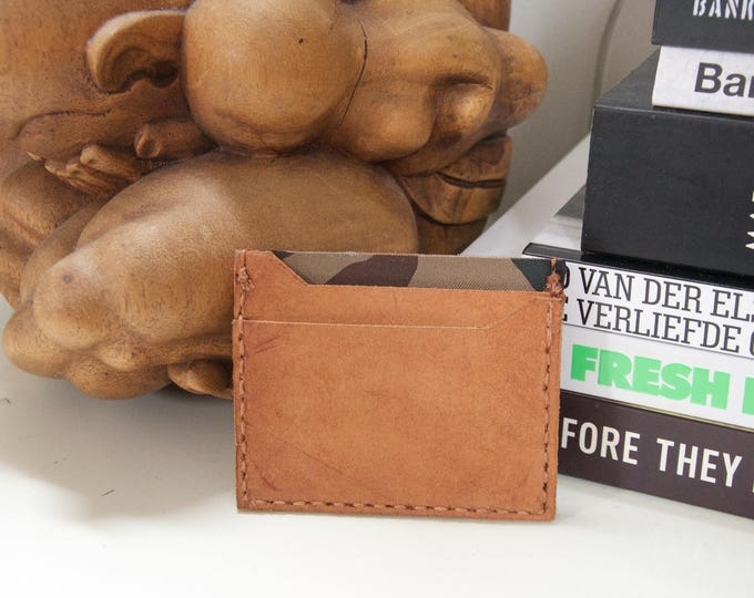 hand made and hand stiched credit card holder