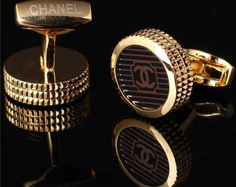CC logo Chanel Cufflinks  in Yellow gold Plated