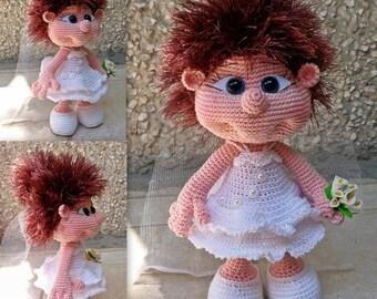 Elf Bride Doll PATTERN crochet amigurumi