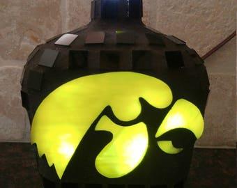 Iowa Hawkeyes Bottle Light