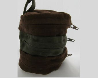Faux Suede Dice Bag Brown and Green Divided Sectioned Pouch Dungeons and Dragons D&D RPG Role Playing Die Section Miniatures