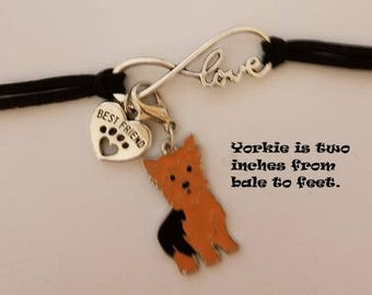 Yorkie best friend bracelet.