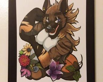 Harvest Hyena Original Illustration