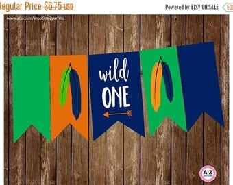 60% OFF Wild ONE high chair banner, first birthday, Highchair, birthday banner, ONE, 1 per page, printable, Diy,  instant download banner, a