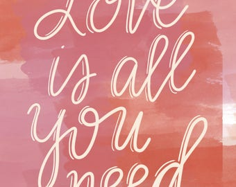 Love is All You Need Card (set of 3)